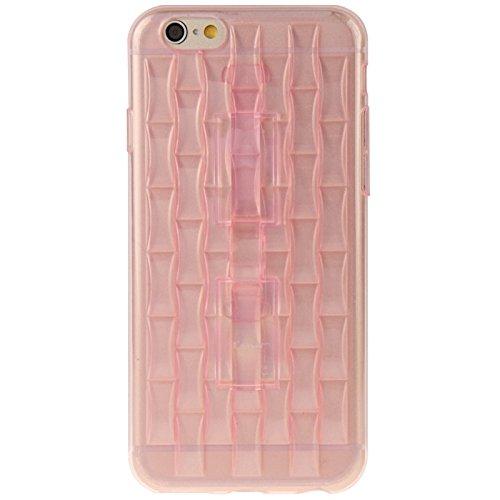 Wkae Case Cover eis - skulpturen tpu - schutzhülle mit griff für das iphone 6 plus &65 plus ( Color : Pink ) Pink