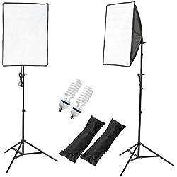 PMS Softbox 2 x 50x70cm - Ventana de Luz para fotografía: iluminación continua