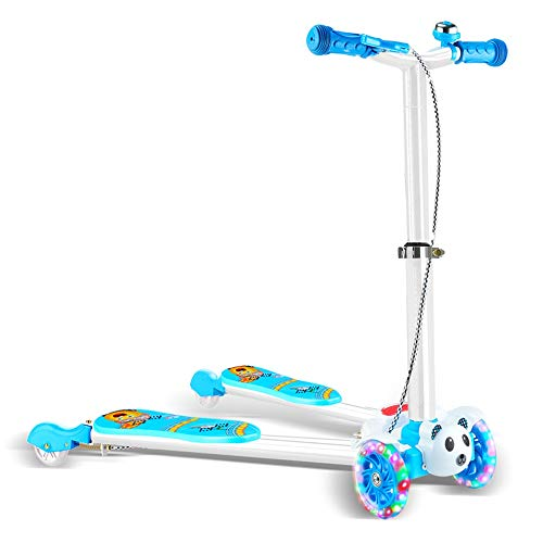 Zhongxingenggeng Dabao Kinder Roller Frosch Schere Auto Doppel-Fuß-Vierrad Jungen und Mädchen Auto Kinderwagen (Color : Blue)