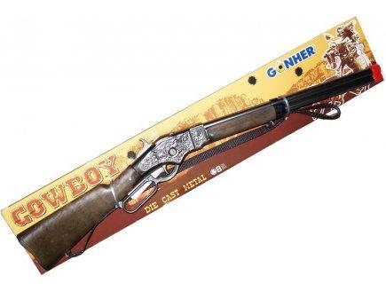 gonher-1199-6-winchester-kinder-gewehr-70-cm-8-schuss-zink-schwarz