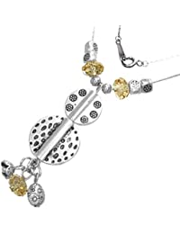 Fashion Kristall Bead Kugel Y Halskette