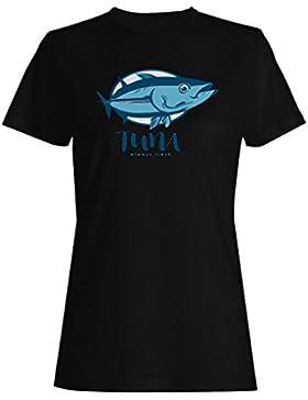 Atún siempre fresca novedad pescado divertido camiseta de las mujeres a711f