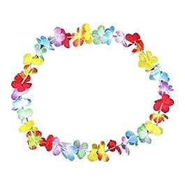 Schramm® Confezione da 100 Catene di Fiori Multicolore Catena di Fiori Multicolore Catena di Fiori Hawaiana Catene…