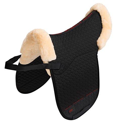 Dressur Satteldecke Lammfell Champ-D ¼ Rand von CHRIST – Dressursatteldecke mit Sitzbereich aus echtem Fell & Fellrand…