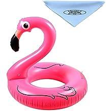 UClever Flamenco Hinchable colchonetas piscina Flotador Gigante Flamenco para Piscina