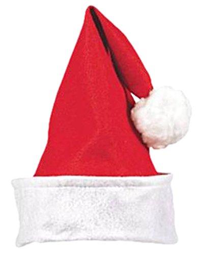 Confettery - Damen Basic Unisex Erwachsene Weihnachtsmütze mit Bommel, onesize, (Engel Basic Kostüm)