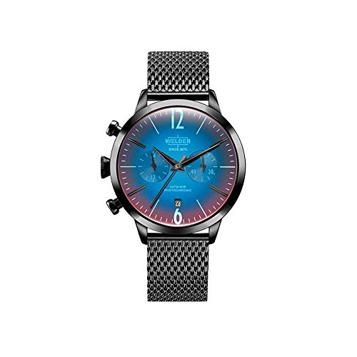WRC600 Welder Moody - Womens watch in steel with black IP finish and armys type mesh.