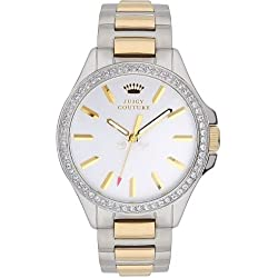 Juicy Couture Jetsetter Women's Quartz Watch with Silver Dial Analogue Display and Silver Stainless Steel Bracelet 1901023