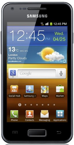 Samsung Galaxy S Advance I9070 Smartphone (10,2 cm (4 Zoll) AMOLED-Touchscreen, 5 Megapixel Kamera, Android 2.3) metallic-black