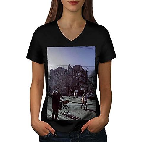 journée Urbain Bâtiment Ville rue se ruer Femme S T-shirt