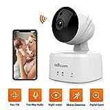 Überwachungskamera mit Bewegungserkennung WLAN IP Kamera mit 2-Wege-Audio, 350°/100° Weitwinkel, Alexa Unterstützt, Cloud-Speicherung, Baby/Haustier/Haus Innen Sicherheitskamera for iOS/Android, 720P