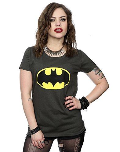 DC Comics Women's Batman Logo T-Shirt XX-Large Light Graphite