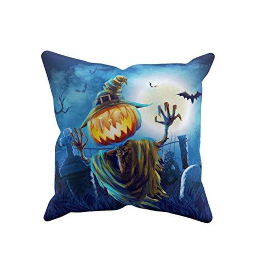 Junjie Halloween Ghost Kissenbezug Sofa Waist Throw Kissenbezug Home Decor Pillow Geistanhänger Halloween - Mathe Tag Kostüm