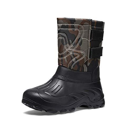 Mens Snow Mucker Wellington Outdoor Stable Yard Boots Waterproof Rain Shoes