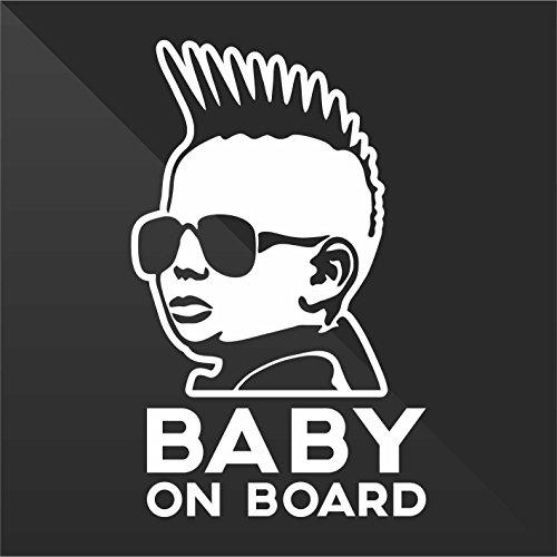 Sticker Bambini a bordo Baby on board bébé à bord bebé a bordo Baby an Bord - Decal Auto Moto Casco Wall Camper Bike Adesivo Adhesive Autocollant Pegatina Aufkleber - cm 13