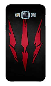 Back Cover for Samsung Galaxy E7 with Tempered Glass Screen Protectors COMBO (UV Printed Soft Back Cover + Tempered Glass) by DRaX®