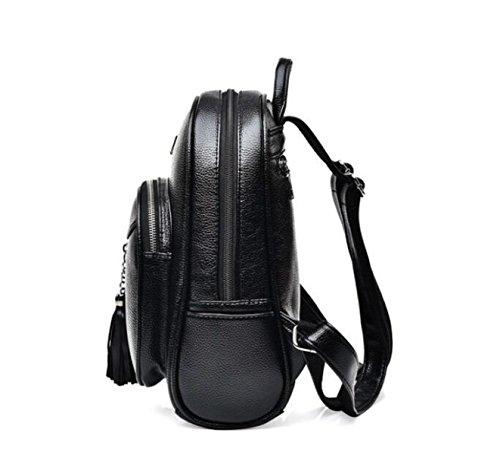 Frauen-Troddel-Umhängetasche PU-kleiner Rucksack Anti-Diebstahl-Beutel B