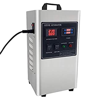 MOSMAT 5000mg/h Ozone Generator O3 Air Purifier Lcd current voltage screen microcomputer timer 80watt,Deodorizer Sterilizer-Mold Odors Easily Treats Up to 150 m³ Air Cleaner