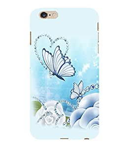 Printtech Butterfly Pearls Back Case Cover for Apple Iphone 6 Plus/6S Plus