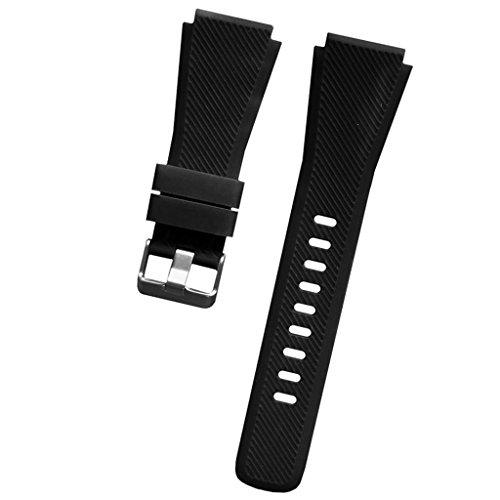 MagiDeal Cinturino in Silicone Sostitutivo per Samsung Gear S3 22mm Band - Nero