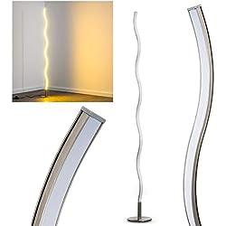 Lámpara de pie LED Dillon minimalista - 3000 kelvin blanco cálido - 1x 12W - 1000 Lumens