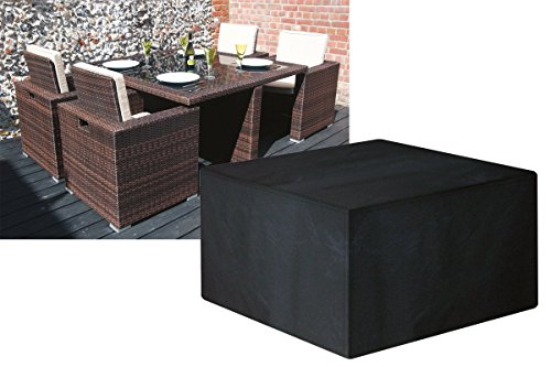 Garland 4 Seater Medium Rattan Cube Set Cover #W1634