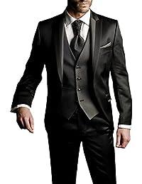 Suit Me Juegos de la chaqueta 3-piezas traje Slim Fit boda del partido del smoking de los hombres, rayas chaleco, pantalones