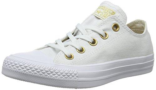Converse Damen CTAS OX Driftwood/White Sneaker, Weiß 102, 39 EU