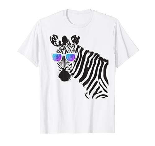 Sonnenbrillen Zebra Shirt Witziges Hipster Zebra T-Shirt