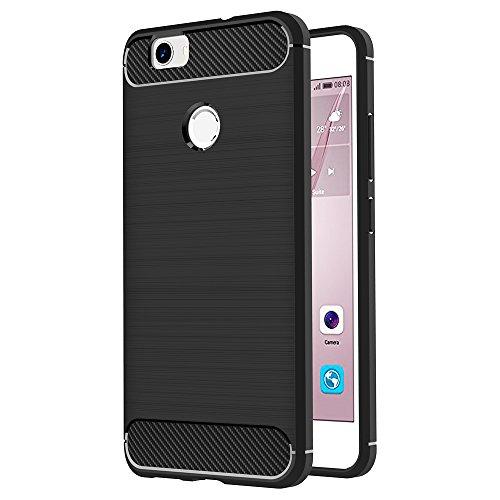 AICEK Huawei Nova Hülle, Schwarz Silikon Handyhülle für Huawei Nova Schutzhülle Karbon Optik Soft Case (5,0 Zoll)