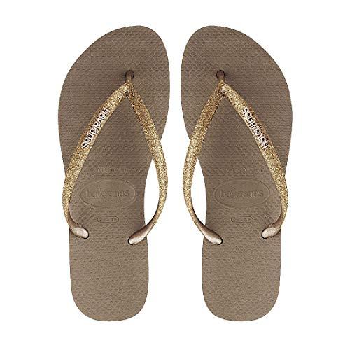 Havaianas Slim Glitter Damen Sandalen Gold