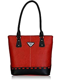 Fantosy Women's Handbag (Red and Black) (FNB-318)