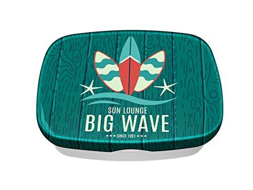 Brotdose Lunchbox Sport Große Welle Surf bedruckt