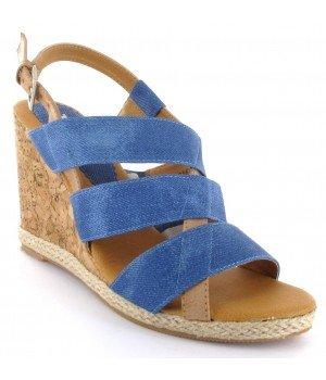 Top or - Sandales femme bleu - HU816-7 Bleu
