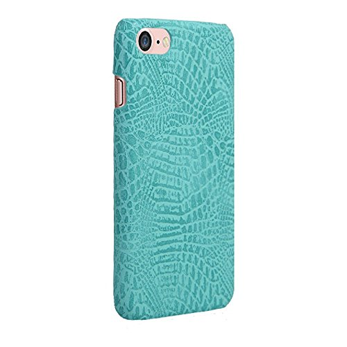 Coque iPhone 7, Vanki® Vintage Series Crocodile texture en cuir souple Coque rigide Cover Case pour Apple iPhone 7 4.7 inch Vert