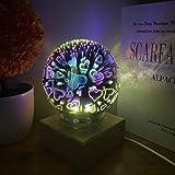 XIAOXINYUAN D4Usb Creativo Amor Colorido Crystal Glass Cover 3D Luz De La Noche Led Lámpara De Mesa De Noche Niño Regalo Decoración del Hogar