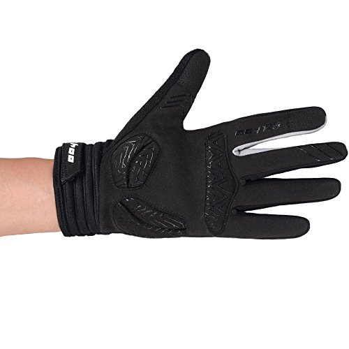 Winter Radfahren Handschuhe, Winddicht Smartphone Touchscreen Schock Beweis EVA Pad Rutschfeste Silikon Handschuhe w Klettverschluss Vollfinger Fahrrad Motorrad Outdoor - 7