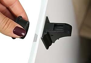 minipirat 4er set magnetschloss zur sicherung von schrankt ren oder schubladen mit bis zu 3 5. Black Bedroom Furniture Sets. Home Design Ideas