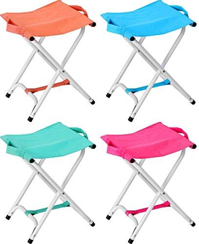 Tabouret pliant tabouret de camping chaise pliante - 40 cm Hauteur d'assise, pink/rosa
