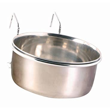 Trixie Stainless Steel Bowl with Holder, 600 ml