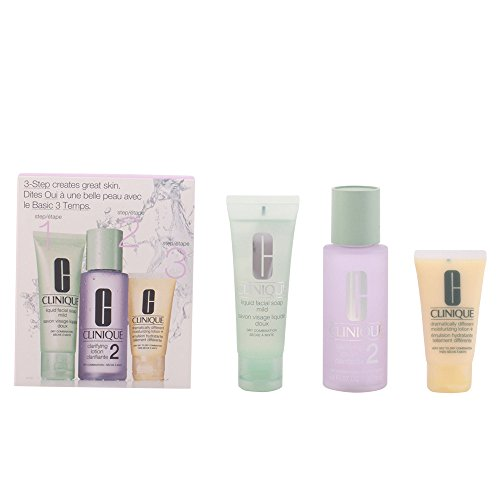 Preisvergleich Produktbild Clinique 3 Step Einführungsset für trockene Haut (Liquid Facial Soap 50ml,  Clarifying Lotion 100ml,  Dramatically Different Moisturizing Lotion plus 30ml)