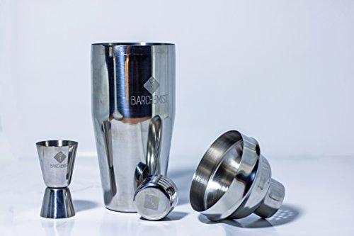 Barchemist Cocktail Shaker Set - Stainless Steel - 750ml Shaker - 15/30ml Jigger - Bar Accessory