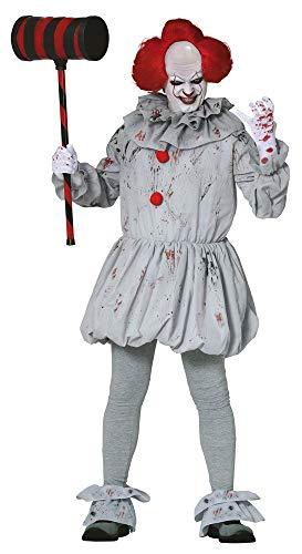 Clown Gruselig Kostüm - shoperama Herren-Kostüm Killer Clown Pennywise Halloween gruselig Horror Es Mörder gruselig boshaft, Größe:L