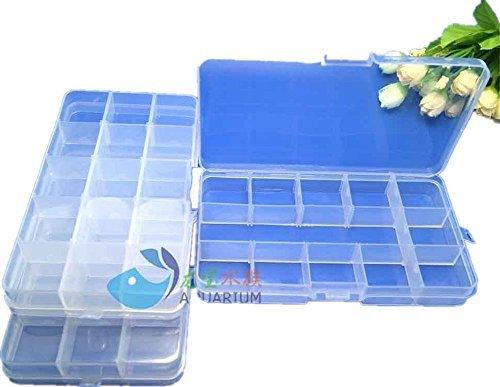 Preisvergleich Produktbild Ardisle Aufbewahrungsboxen mit je 15 Fächern,  klein,  Kunststoff,  3 Stück