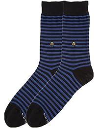 The Moja Club Socks for Men - Nautical Blue Stripes - Premium, High Quality Socks