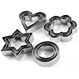 Kitchen Delli 12 Piece Set Stainless Steel Pastry Cookie Biscuit Cutter Cake Muffin Decor Mold Mould Multifunctional Tool