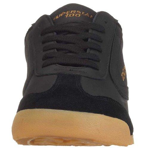Dunlop Superstar 100 Unisex-Erwachsene Sneakers Schwarz (Black)