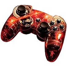 PDP - Nuevo Controller Afterglow Wireless, Color Rojo (PlayStation 3)