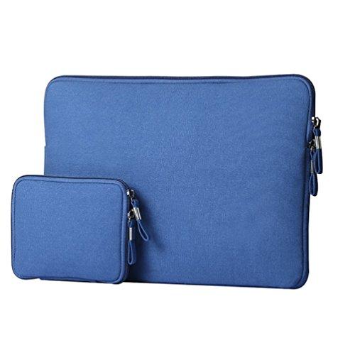 YiJee Wasserdicht Sleeve Laptoptasche Notebookhülle Zubehörtasche für MacBooks 12 Zoll Saphir