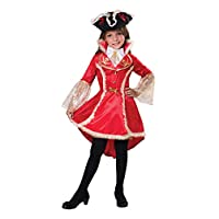 Bristol Novelty Pirate Princess, Girls, Red/White/Black, Small
